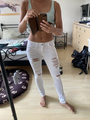 Low Rise Jeans white