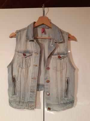 H&M Jeansowa kamizelka jasnoniebieski