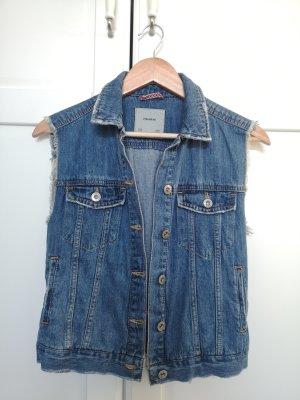 Pull & Bear Gilet en jean bleu