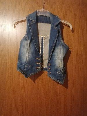 Smanicato jeans blu-verde
