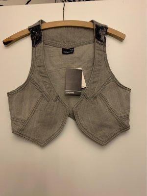 Colours of the World Denim Vest silver-colored