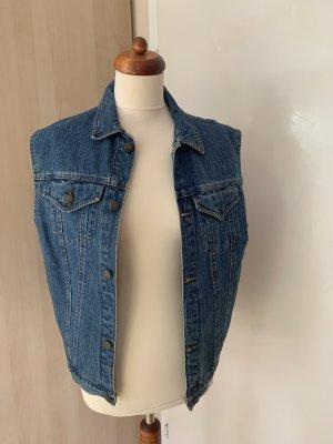 Gilet en jean bleu foncé