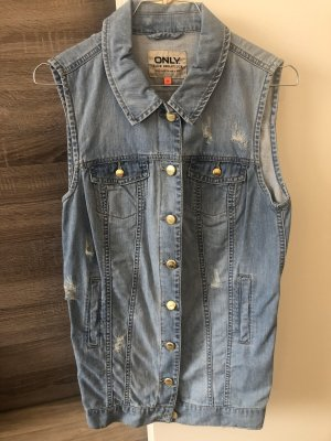 Jeans Weste Used Look Gr. S only