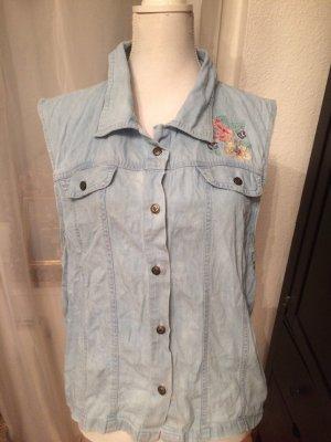Jeans Weste Vintage Jeansweste Jacke blau Baumwolle