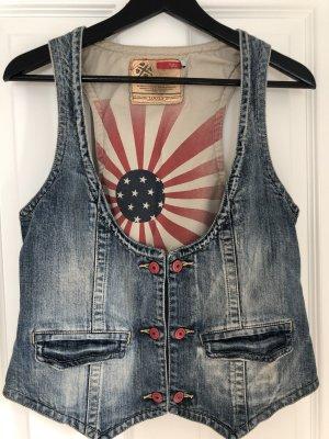 Tribeca New York Smanicato jeans blu acciaio