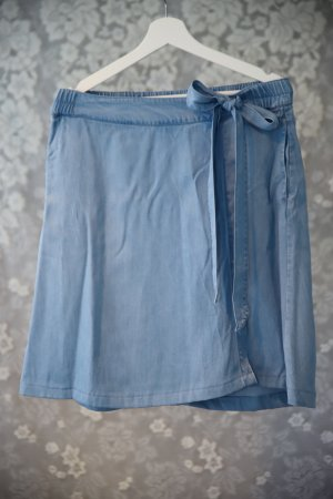 Jeans-Wickelrock mit Schleife, hellblau, ca. Gr. 38