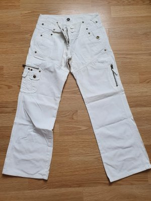 YES OR NO Low Rise Jeans white cotton