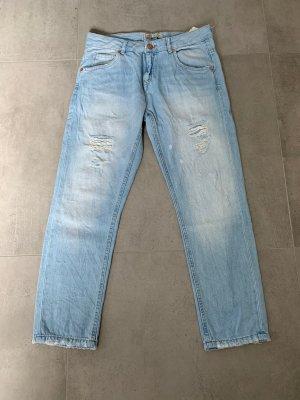 Jeans Zara 36 Ripped Hellblau