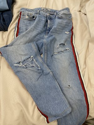 Zara Premium Workowate jeansy chabrowy