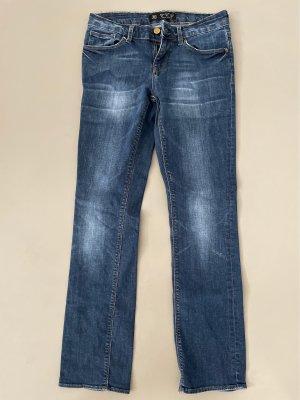 Zara Basic Jeans stretch bleu acier-bleu foncé