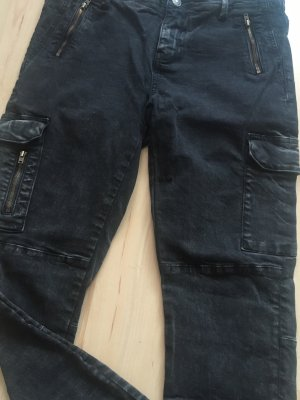Zara Biker Jeans multicolored