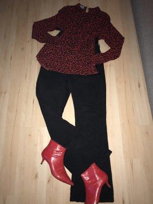 Zara Jeansowe spodnie dzwony czarny