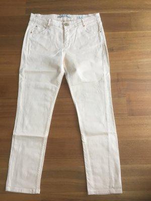 Jeans Zara in Apricot mit Reißnähten