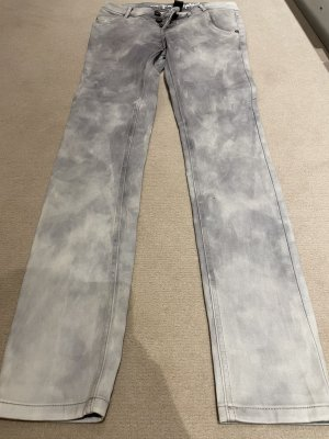 One green elephant Jeans a gamba dritta grigio chiaro