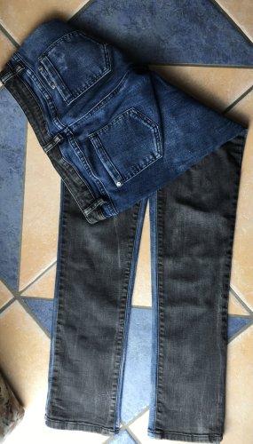 Jeans zweifarbig