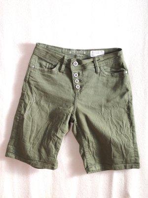 Bermuda grigio-verde Cotone
