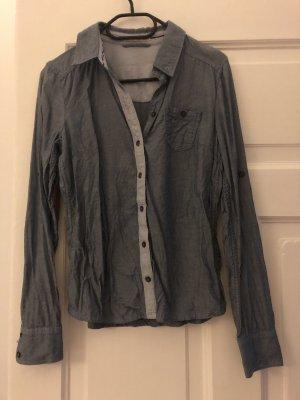 Jeansblaue Bluse von Tom Tailor Denim