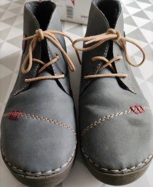 Jeansblaue Stiefeletten von Rieker Gr.41