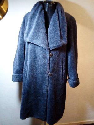 Vintage Manteau en fausse fourrure gris ardoise