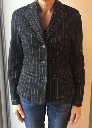 Blazer in jeans nero-bianco Cotone