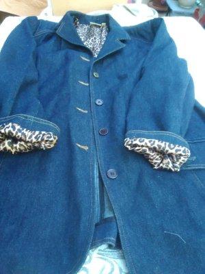 Blazer en jean bleu foncé viscose