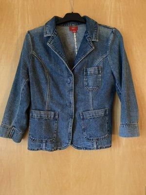 Blazer en jean bleu pâle coton