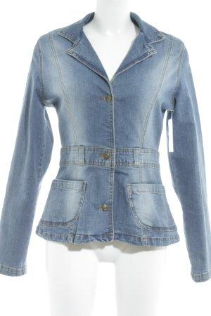 Blazer in jeans blu stile atletico