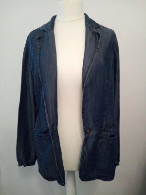 Oasis Blazer en jean bleu foncé lyocell