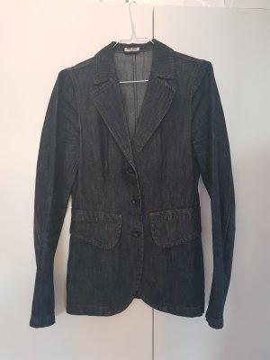 Miu Miu Blazer in jeans blu acciaio Tessuto misto