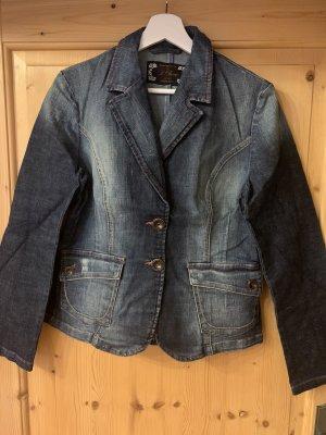 s.Oliver Blazer in jeans blu scuro-rosso mattone