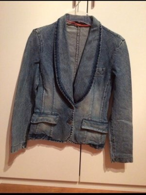Blazer in jeans grigio ardesia
