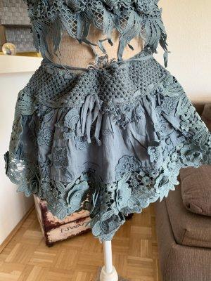 Antica Sartoria Hot Pants blue-steel blue cotton