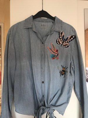 edc by Esprit Blouse en jean bleu azur