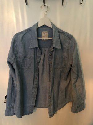 Denim Co. Chemise en jean bleu azur coton