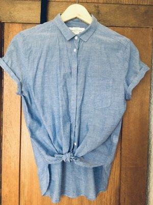 Jeansbluse 100% Baumwolle Gr 38