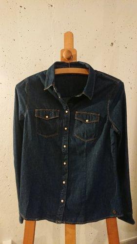 Only Bluzka jeansowa ciemnoniebieski