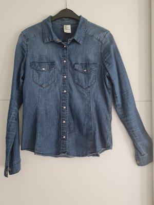 H&M Bluzka jeansowa niebieski-błękitny