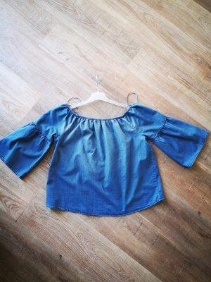 Jaqueline de Yong Blouse en jean bleu acier