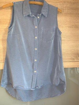 Blouse en jean bleu azur
