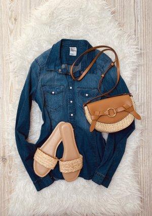 H&M Bluzka jeansowa niebieski-chabrowy