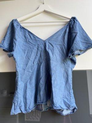 Zara Jeans blouse korenblauw