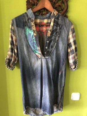 Desigual Blouse en jean bleuet