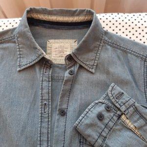 H&M Basic Blouse en jean bleu