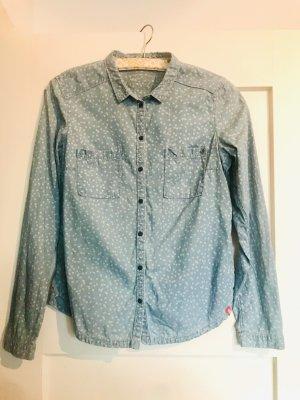 edc Blouse en jean gris ardoise-bleu azur