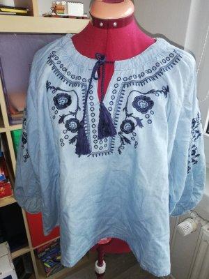FB Sister Bluzka jeansowa ciemnoniebieski-błękitny
