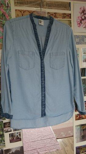 H&M Bluzka jeansowa niebieski-jasnoniebieski Bawełna