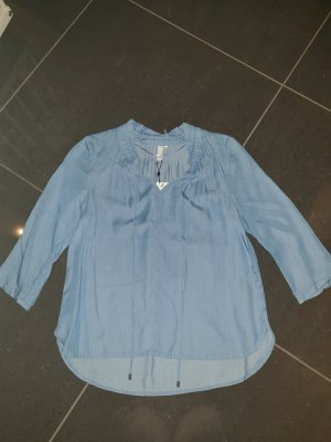 Q/S Blouse en jean multicolore