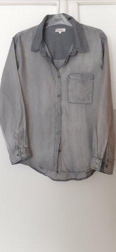 Jeans blouse lichtgrijs Lyocell