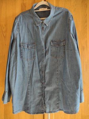 Ckh Denim Blouse steel blue-slate-gray cotton