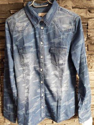 Comma Bluzka jeansowa jasnoniebieski-błękitny